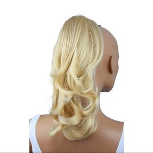 NEW Synthetic Blonde Ponytail Clip Extension